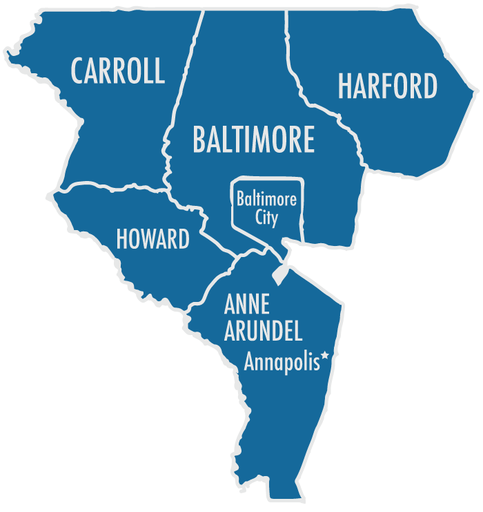 Maryland Counties Map